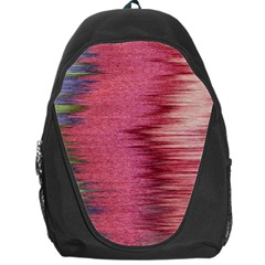 Rectangle Abstract Background In Pink Hues Backpack Bag