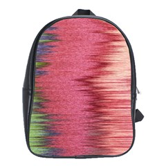 Rectangle Abstract Background In Pink Hues School Bags (XL)