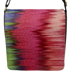 Rectangle Abstract Background In Pink Hues Flap Messenger Bag (s)