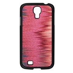 Rectangle Abstract Background In Pink Hues Samsung Galaxy S4 I9500/ I9505 Case (Black)