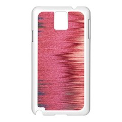 Rectangle Abstract Background In Pink Hues Samsung Galaxy Note 3 N9005 Case (White)