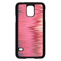 Rectangle Abstract Background In Pink Hues Samsung Galaxy S5 Case (black)