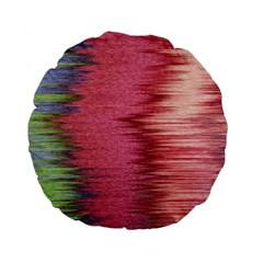 Rectangle Abstract Background In Pink Hues Standard 15  Premium Flano Round Cushions