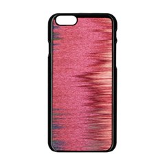 Rectangle Abstract Background In Pink Hues Apple iPhone 6/6S Black Enamel Case