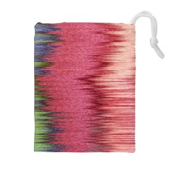 Rectangle Abstract Background In Pink Hues Drawstring Pouches (extra Large)