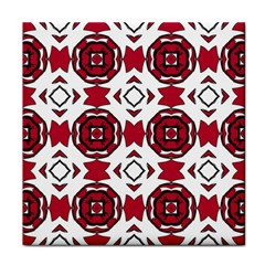 Seamless Abstract Pattern With Red Elements Background Tile Coasters
