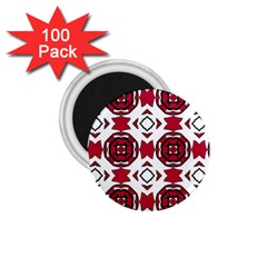 Seamless Abstract Pattern With Red Elements Background 1 75  Magnets (100 Pack)