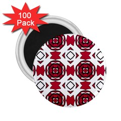 Seamless Abstract Pattern With Red Elements Background 2.25  Magnets (100 pack)