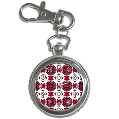 Seamless Abstract Pattern With Red Elements Background Key Chain Watches