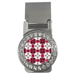 Seamless Abstract Pattern With Red Elements Background Money Clips (cz)