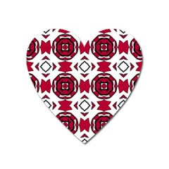 Seamless Abstract Pattern With Red Elements Background Heart Magnet