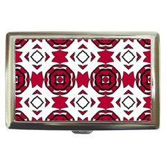 Seamless Abstract Pattern With Red Elements Background Cigarette Money Cases