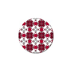 Seamless Abstract Pattern With Red Elements Background Golf Ball Marker (10 pack)