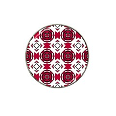 Seamless Abstract Pattern With Red Elements Background Hat Clip Ball Marker (10 Pack)