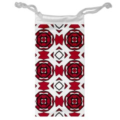 Seamless Abstract Pattern With Red Elements Background Jewelry Bag