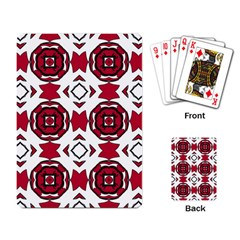Seamless Abstract Pattern With Red Elements Background Playing Card