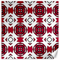 Seamless Abstract Pattern With Red Elements Background Canvas 16  X 16