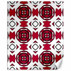 Seamless Abstract Pattern With Red Elements Background Canvas 16  x 20