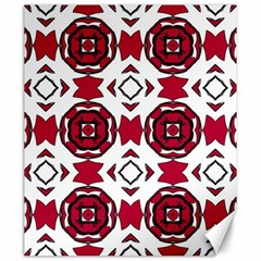 Seamless Abstract Pattern With Red Elements Background Canvas 20  X 24