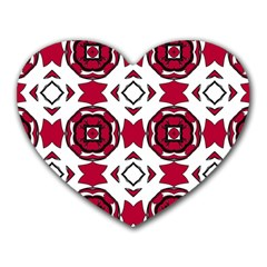 Seamless Abstract Pattern With Red Elements Background Heart Mousepads