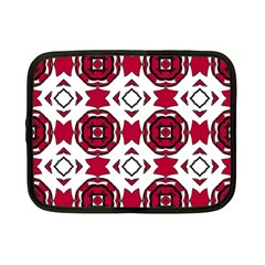 Seamless Abstract Pattern With Red Elements Background Netbook Case (small)