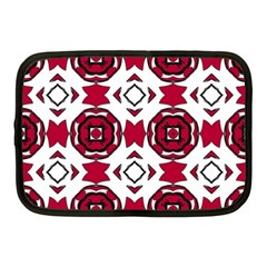 Seamless Abstract Pattern With Red Elements Background Netbook Case (medium)
