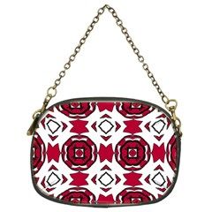 Seamless Abstract Pattern With Red Elements Background Chain Purses (two Sides)