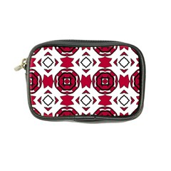 Seamless Abstract Pattern With Red Elements Background Coin Purse