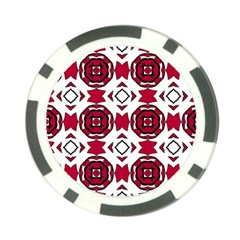 Seamless Abstract Pattern With Red Elements Background Poker Chip Card Guard (10 Pack)