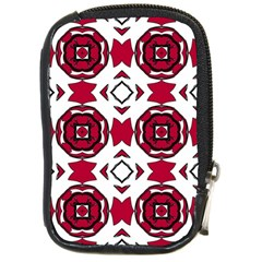 Seamless Abstract Pattern With Red Elements Background Compact Camera Cases