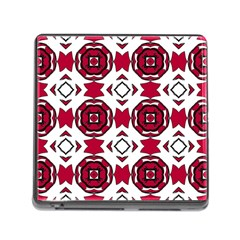 Seamless Abstract Pattern With Red Elements Background Memory Card Reader (Square)