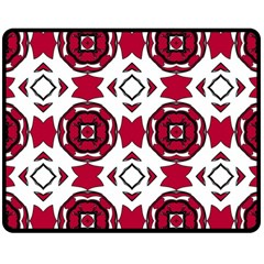 Seamless Abstract Pattern With Red Elements Background Fleece Blanket (medium)