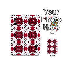 Seamless Abstract Pattern With Red Elements Background Playing Cards 54 (mini)