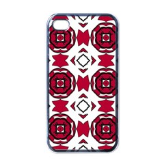 Seamless Abstract Pattern With Red Elements Background Apple Iphone 4 Case (black)