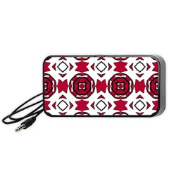 Seamless Abstract Pattern With Red Elements Background Portable Speaker (black)