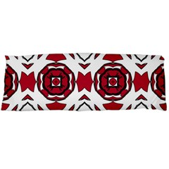 Seamless Abstract Pattern With Red Elements Background Body Pillow Case (dakimakura)