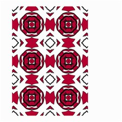 Seamless Abstract Pattern With Red Elements Background Small Garden Flag (Two Sides)