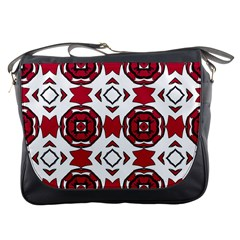 Seamless Abstract Pattern With Red Elements Background Messenger Bags