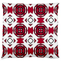 Seamless Abstract Pattern With Red Elements Background Large Cushion Case (One Side)