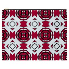 Seamless Abstract Pattern With Red Elements Background Cosmetic Bag (XXXL)