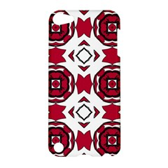 Seamless Abstract Pattern With Red Elements Background Apple Ipod Touch 5 Hardshell Case