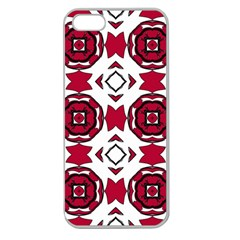 Seamless Abstract Pattern With Red Elements Background Apple Seamless iPhone 5 Case (Clear)