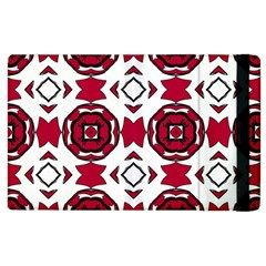 Seamless Abstract Pattern With Red Elements Background Apple Ipad 3/4 Flip Case