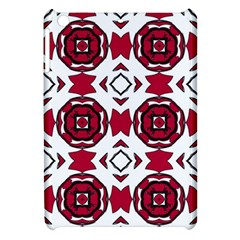 Seamless Abstract Pattern With Red Elements Background Apple iPad Mini Hardshell Case