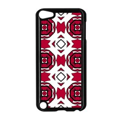 Seamless Abstract Pattern With Red Elements Background Apple iPod Touch 5 Case (Black)