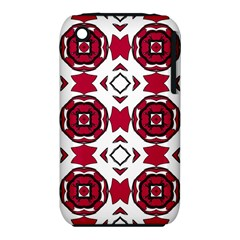 Seamless Abstract Pattern With Red Elements Background Iphone 3s/3gs