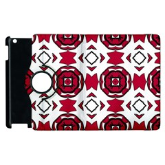 Seamless Abstract Pattern With Red Elements Background Apple iPad 2 Flip 360 Case