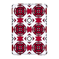 Seamless Abstract Pattern With Red Elements Background Apple Ipad Mini Hardshell Case (compatible With Smart Cover)