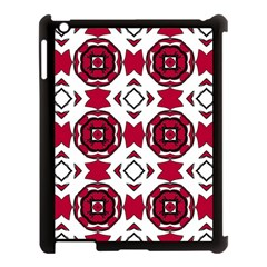 Seamless Abstract Pattern With Red Elements Background Apple iPad 3/4 Case (Black)