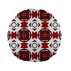 Seamless Abstract Pattern With Red Elements Background Standard 15  Premium Round Cushions